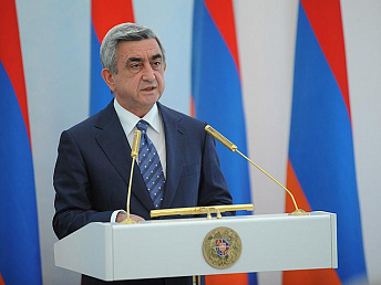 Armenia's President congratulates his Russian counterpart on the 60th jubilee