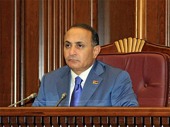 Armenian parliament speaker indicates possible changes to pension law