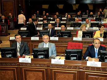Three Armenian MPs seeking parliament speaker post