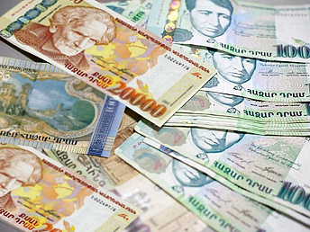 Median gross monthly wage in Armenia in March 2014 was 158,873 drams ($384 dollars)