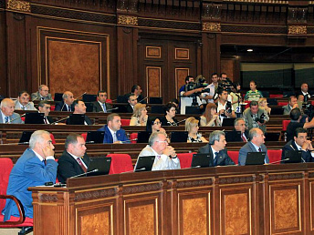 Armenian parliament passes government plan of actions for 2014-2017