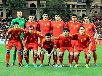 Armenia's football national moves eight lines up in FIFA ranking