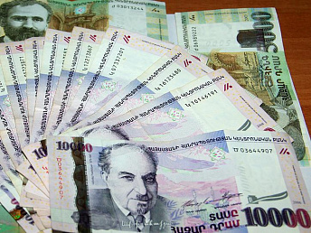 Median gross wage in Armenia in April 2014 totaled 163,620 drams ($395)
