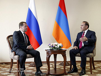 Abrahamyan, Medvedev discuss Armenian-Russian cooperation and joint projects